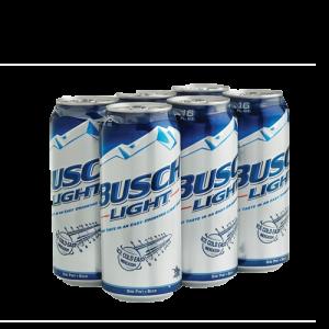 Busch light 6pk 16ozcan