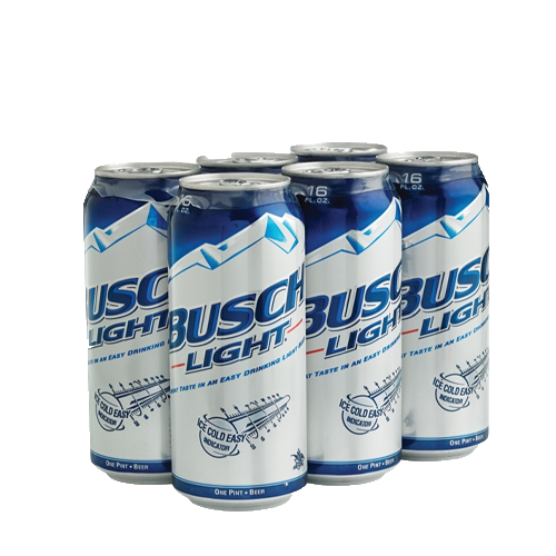 Busch light 6pk 16ozcan