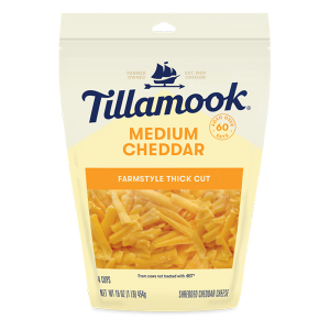 Tillamook Shredded Cheese - Mild Cheddar - Farm style cut